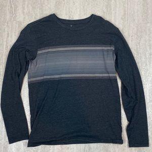 American Eagle shirt long sleeve grey stripes XS